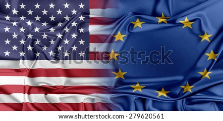 Relations between two countries. USA and Europe.