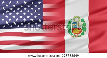 Relations between two countries. USA and Peru. - stock photo
