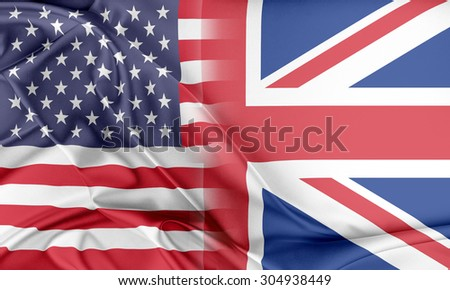 Relations between two countries. USA and United Kingdom