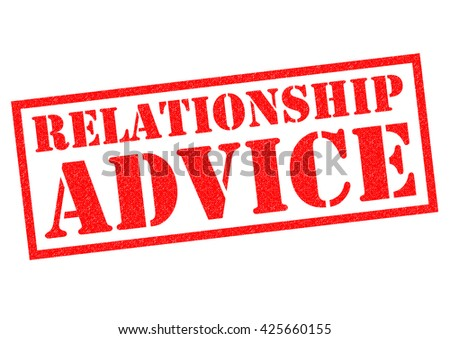 RELATIONSHIP ADVICE red Rubber Stamp over a white background. - stock photo
