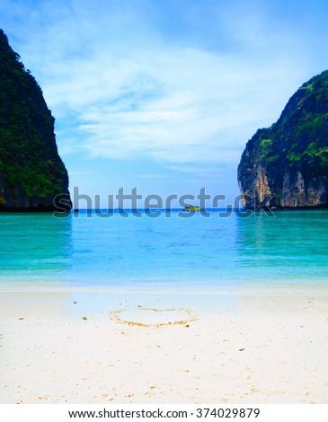 Relationship Symbol Love Vacation  - stock photo