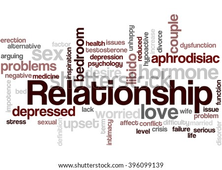 Relationship, word cloud concept on white background.