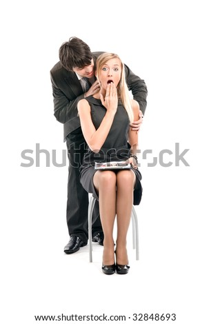Relationships in business team - stock photo