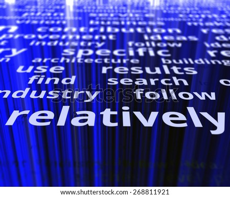 Relatively concept. Text illustration image - stock photo