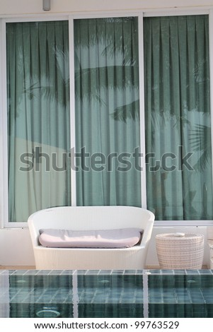 relax chair at  hotel - stock photo