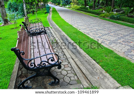 relax chair in Park Chair - stock photo