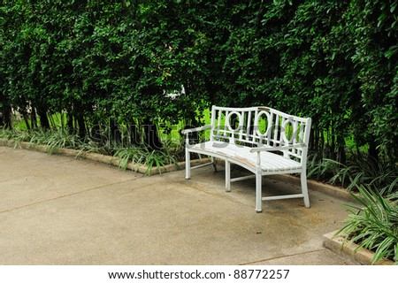 relax chair in the garden - stock photo