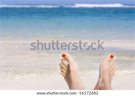 Relax Day Near From Sea - stock photo