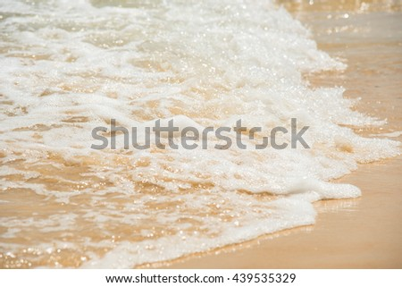 relax in summer time on sand beach island nature with water wave.