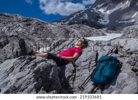 Relax in the Alps - stock photo