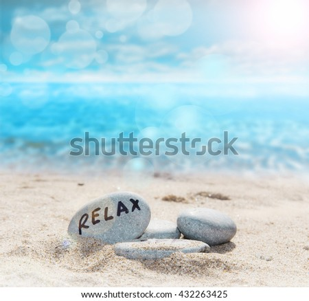 relax in the beach - stock photo