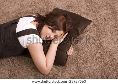 Relax on carpet - stock photo