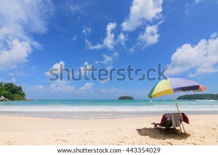 Relax on Kata beach in holiday.