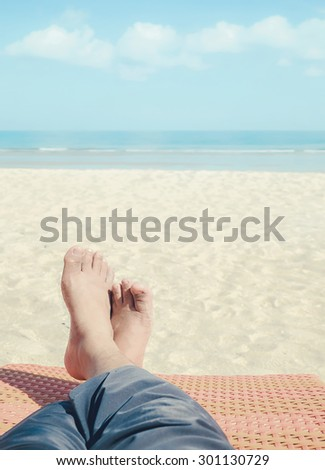 relax on the beach (retro style)