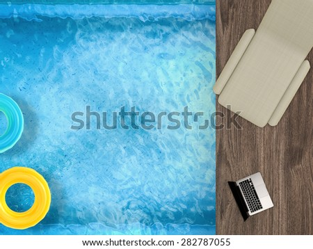 relax on vacation - stock photo