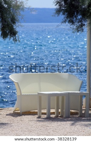 Relax place on the beach