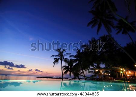 Relax resort in Koh Phangan, Thailand - stock photo