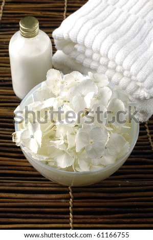 relaxation and body treatment - stock photo