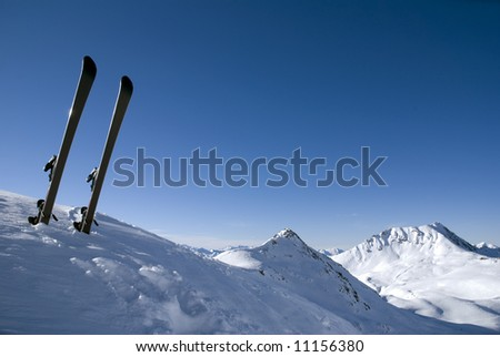 Relaxation in Les Arcs. France - stock photo