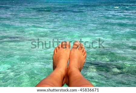 Relaxation in tropics - stock photo