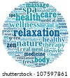 Relaxation in word collage - stock photo