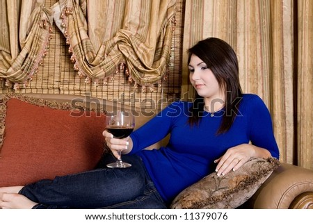 Relaxation night - stock photo