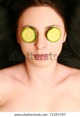 relaxation of young beautiful woman - stock photo
