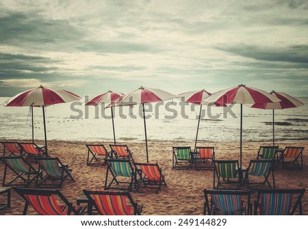 relaxation on the beach (retro style)