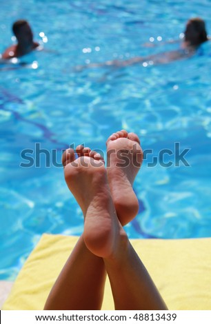 Relaxation on vacations - stock photo