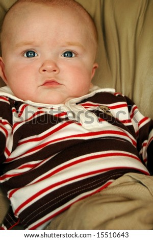 Relaxed Baby Boy - stock photo