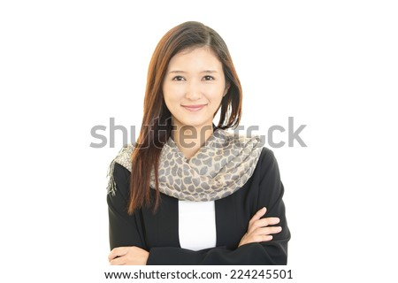 Relaxed beautiful woman. - stock photo