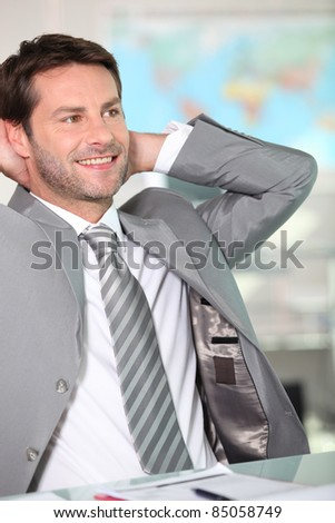 Relaxed executive - stock photo