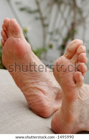 Relaxed feet #1 - stock photo