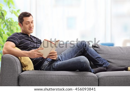 Naked boy on couch