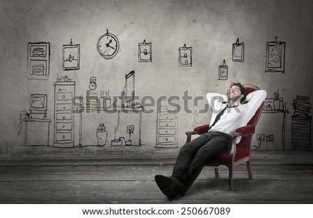 Relaxed manager - stock photo