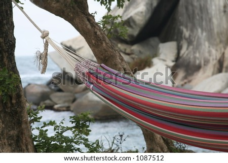 Relaxing at the beach *** Local Caption *** Relaxing at the beach. Caribe - stock photo