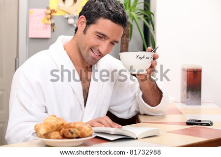 relaxing coffee - stock photo
