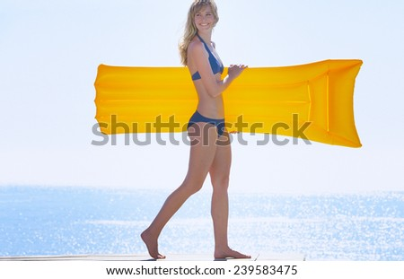 Relaxing in a pool - stock photo