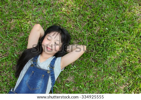 Relaxing in the park. - stock photo