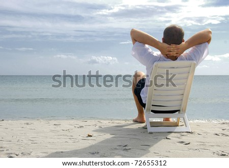 Relaxing in the sea - stock photo