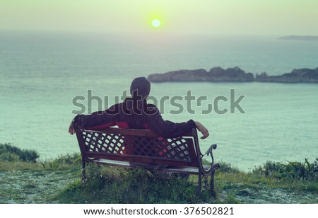 Relaxing man - stock photo