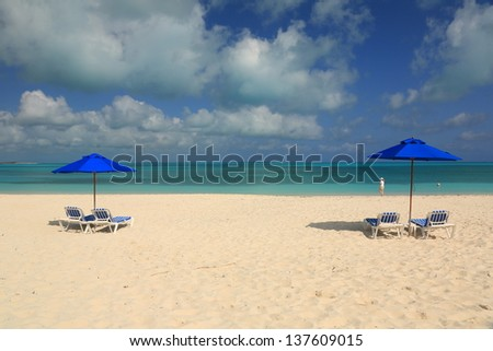 relaxing on the beach - stock photo