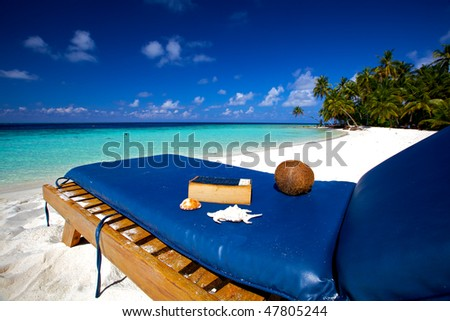 Relaxing on the beach! - stock photo
