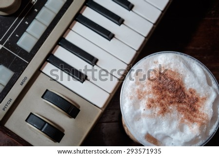 Relaxing time with coffee and music.