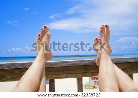 Relaxing vacation - stock photo