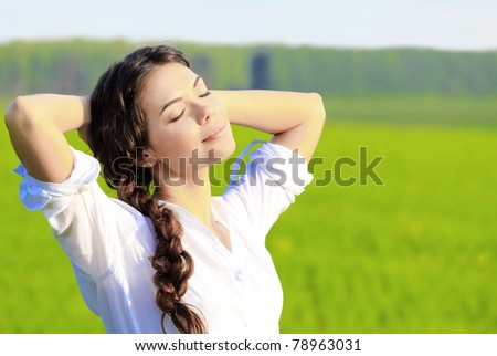 Relaxing woman - stock photo
