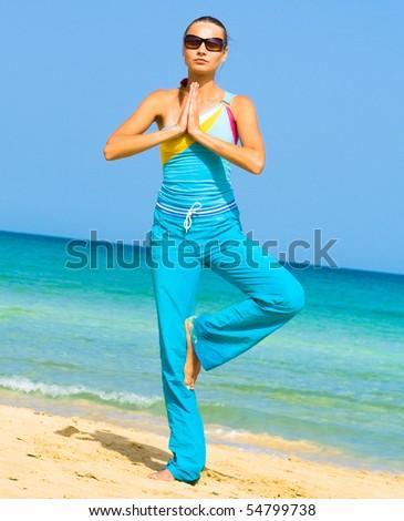 Relaxing Yoga - stock photo