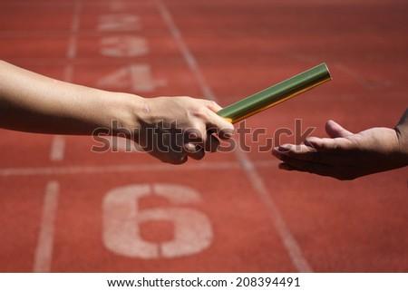 Relay race - stock photo