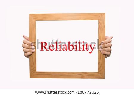 Reliability - stock photo
