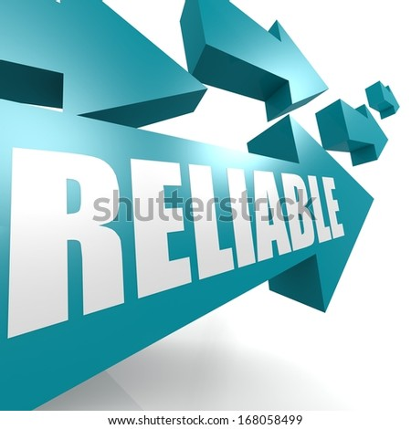 Reliable arrow blue - stock photo